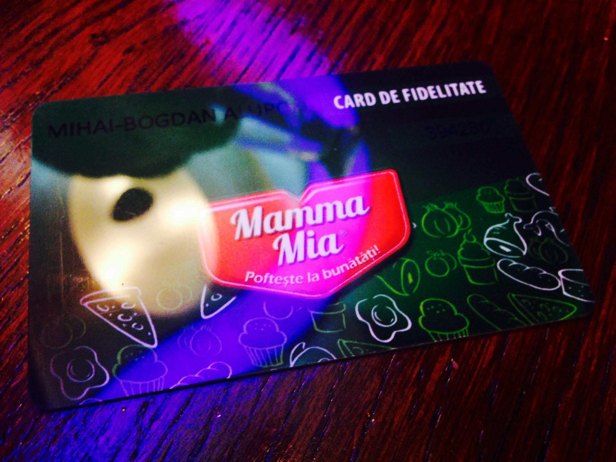 Card fidelizare Mamma Mia
