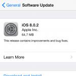 Apple lanseaza iOS8.0.2 pentru iPhone
