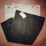 Prima comanda online de la H&M: Pantaloni Office din lana