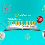 17 milioane de cărți livrate de elefant.ro din 2010 și până în prezent